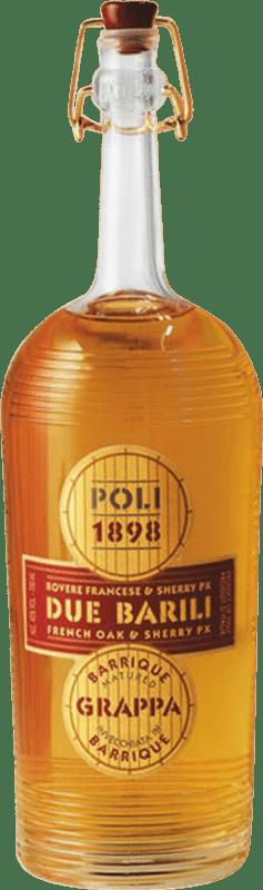 46,95 € Free Shipping   Grappa Poli Due Barili Envejecida 4 Años Bottle 70 cl