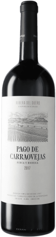 76,95 € | Red wine Pago de Carraovejas Crianza D.O. Ribera del Duero Castilla y León Spain Tempranillo, Merlot, Cabernet Sauvignon Magnum Bottle 1,5 L