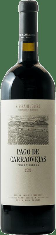 82,95 €   Vino rosso Pago de Carraovejas Crianza D.O. Ribera del Duero Castilla y León Spagna Tempranillo, Merlot, Cabernet Sauvignon Bottiglia Magnum 1,5 L