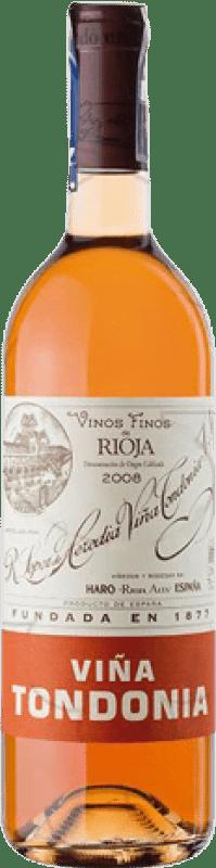 43,95 € Envoi gratuit   Vin rose López de Heredia Viña Tondonia Gran Reserva D.O.Ca. Rioja La Rioja Espagne Tempranillo, Grenache, Macabeo Bouteille 75 cl