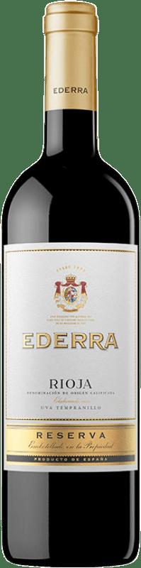 9,95 € Free Shipping | Red wine Bodegas Bilbaínas Ederra Reserva D.O.Ca. Rioja The Rioja Spain Tempranillo, Grenache, Mazuelo, Carignan Bottle 75 cl