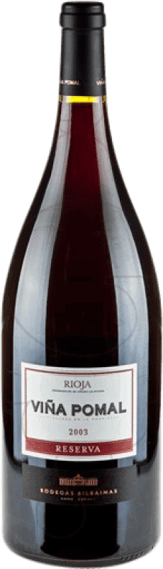 32,95 € Envío gratis | Vino tinto Bodegas Bilbaínas Viña Pomal Reserva D.O.Ca. Rioja La Rioja España Tempranillo Botella Mágnum 1,5 L