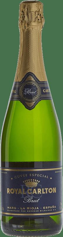 11,95 € 免费送货 | 白起泡酒 Bodegas Bilbaínas Royal Carlton Brut Nature Reserva D.O. Cava 加泰罗尼亚 西班牙 Malvasía, Macabeo 瓶子 75 cl