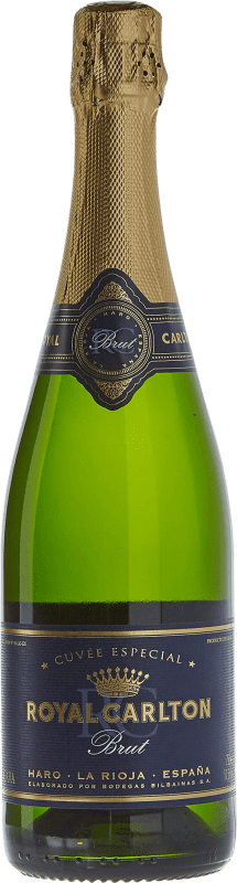 11,95 € | White sparkling Bodegas Bilbaínas Royal Carlton Brut Nature Reserva D.O. Cava Catalonia Spain Malvasía, Macabeo Bottle 75 cl
