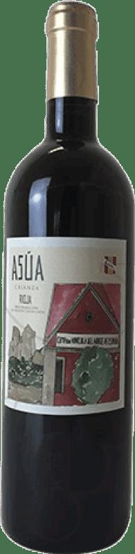 9,95 € Envío gratis | Vino tinto Norte de España - CVNE Asua Crianza D.O.Ca. Rioja La Rioja España Tempranillo, Garnacha, Graciano, Mazuelo, Cariñena Botella 75 cl