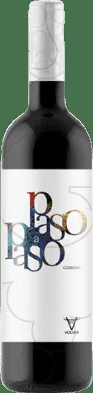 4,95 € Envoi gratuit | Vin rouge Volver Paso a Paso Joven D.O. La Mancha Castilla la Mancha y Madrid Espagne Tempranillo Bouteille 75 cl