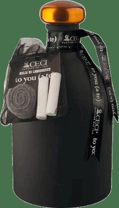 12,95 € Envío gratis | Espumoso tinto Ceci to You D.O.C. Lambrusco di Sorbara Italia Lambrusco Botella 75 cl