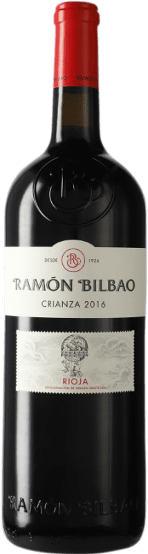 52,95 € | Red wine Ramón Bilbao Crianza D.O.Ca. Rioja The Rioja Spain Tempranillo Special Bottle 5 L