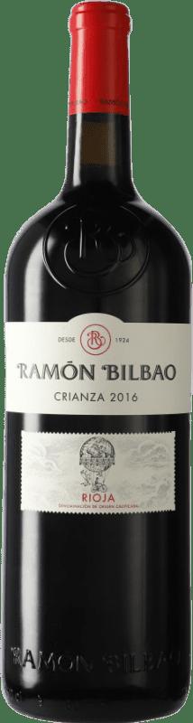 52,95 € Envío gratis | Vino tinto Ramón Bilbao Crianza D.O.Ca. Rioja La Rioja España Tempranillo Botella Especial 5 L