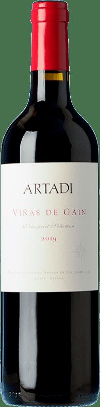 22,95 € 免费送货 | 红酒 Artadi Viñas de Gain Crianza D.O.Ca. Rioja 拉里奥哈 西班牙 Tempranillo 瓶子 75 cl