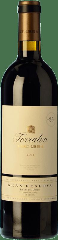 117,95 € Envío gratis | Vino tinto Vizcarra Torralvo Gran Reserva D.O. Ribera del Duero Castilla y León España Tempranillo Botella 75 cl