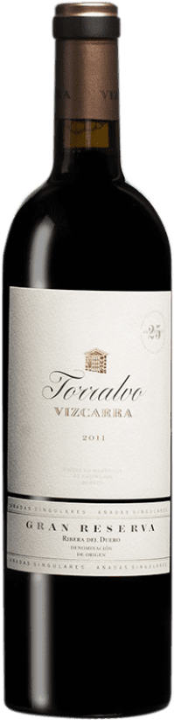 117,95 € 免费送货 | 红酒 Vizcarra Torralvo Gran Reserva D.O. Ribera del Duero 卡斯蒂利亚莱昂 西班牙 Tempranillo 瓶子 75 cl