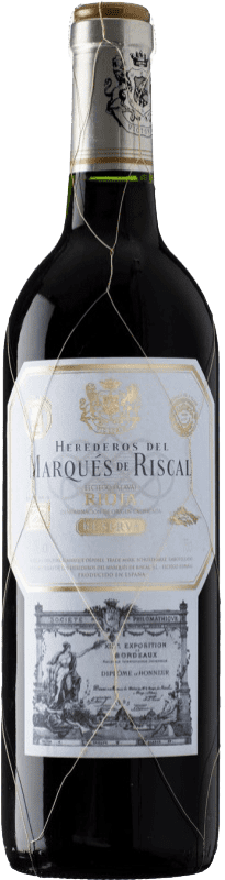 76,95 € | Red wine Marqués de Riscal Reserva D.O.Ca. Rioja The Rioja Spain Tempranillo, Graciano, Mazuelo, Carignan Jéroboam Bottle-Double Magnum 3 L