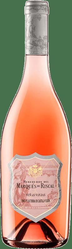 32,95 € | Rosé wine Marqués de Riscal Viñas Viejas Joven I.G.P. Vino de la Tierra de Castilla y León Castilla y León Spain Tempranillo, Grenache Bottle 75 cl