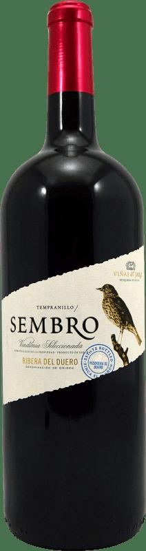13,95 € Envío gratis | Vino tinto Viñas del Jaro Sembro D.O. Ribera del Duero Castilla y León España Tempranillo Botella Mágnum 1,5 L