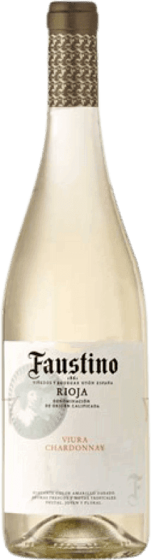 5,95 € Free Shipping | White wine Faustino Joven D.O.Ca. Rioja The Rioja Spain Viura, Chardonnay Bottle 75 cl