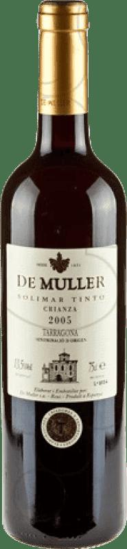 5,95 € Free Shipping | Red wine De Muller Viña Solimar Crianza D.O. Tarragona Catalonia Spain Bottle 75 cl