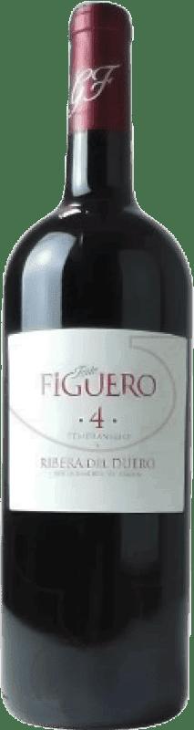19,95 € Envío gratis | Vino tinto Figuero 4 Meses Roble D.O. Ribera del Duero Castilla y León España Tempranillo Botella Mágnum 1,5 L