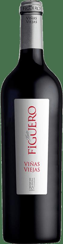 28,95 € Envío gratis | Vino tinto Figuero Viñas Viejas D.O. Ribera del Duero Castilla y León España Tempranillo Botella 75 cl