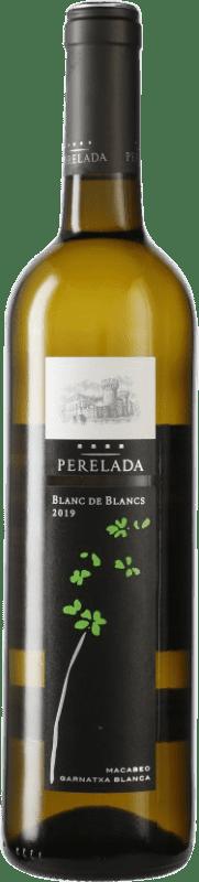 4,95 € Free Shipping | White wine Perelada Blanc de Blancs Joven D.O. Catalunya Catalonia Spain Grenache White, Macabeo, Chardonnay, Sauvignon White Bottle 75 cl