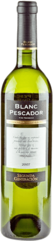 4,95 € Free Shipping | White wine Perelada Segona Generació Pescador Joven D.O. Catalunya Catalonia Spain Grenache White, Sauvignon White Bottle 75 cl