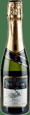 4,95 € Envío gratis | Espumoso blanco Perelada Brut Reserva D.O. Cava Cataluña España Macabeo, Xarel·lo, Parellada Media Botella 37 cl