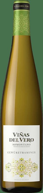 9,95 € Envío gratis | Vino blanco Viñas del Vero Colección Joven D.O. Somontano Aragón España Gewürztraminer Botella 75 cl