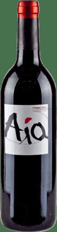 21,95 € Envío gratis | Vino tinto Miquel Oliver Aia Negre Crianza D.O. Pla i Llevant Islas Baleares España Merlot Botella 75 cl