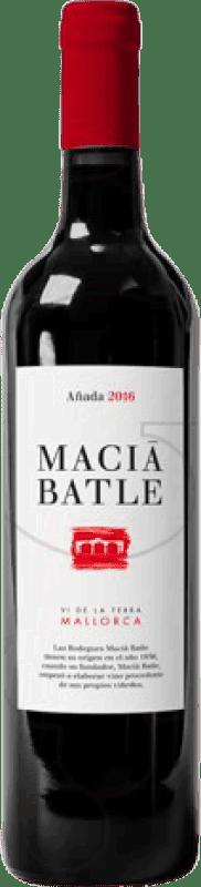 11,95 € Envío gratis | Vino tinto Macià Batle Negre Crianza D.O. Binissalem Islas Baleares España Botella 75 cl