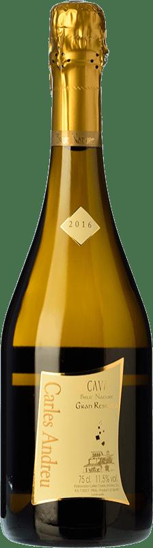 9,95 € Envoi gratuit | Blanc moussant Carles Andreu Brut Nature Reserva D.O. Cava Catalogne Espagne Macabeo, Chardonnay, Parellada Bouteille 75 cl
