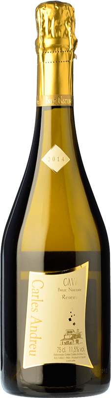 9,95 € 免费送货 | 白起泡酒 Carles Andreu Brut Nature Reserva D.O. Cava 加泰罗尼亚 西班牙 Macabeo, Chardonnay, Parellada 瓶子 75 cl