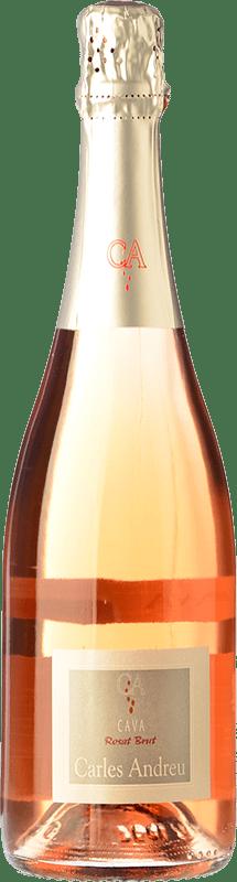 8,95 € 免费送货 | 玫瑰气泡酒 Carles Andreu Rosat 香槟 Joven D.O. Cava 加泰罗尼亚 西班牙 Trepat 瓶子 75 cl