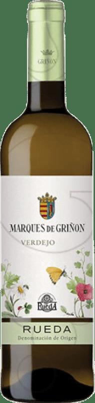 13,95 € Envío gratis | Vino blanco Marqués de Griñón Joven D.O. Rueda Castilla y León España Verdejo Botella Mágnum 1,5 L