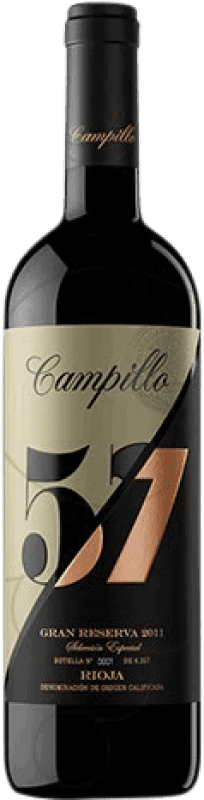 26,95 € | Red wine Campillo 57 Gran Reserva D.O.Ca. Rioja The Rioja Spain Tempranillo, Graciano Bottle 75 cl