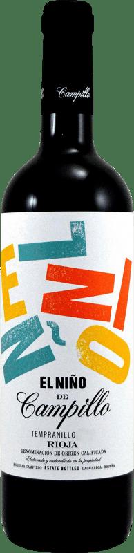 6,95 € 免费送货   红酒 Campillo El Niño D.O.Ca. Rioja 拉里奥哈 西班牙 Tempranillo, Graciano 瓶子 75 cl