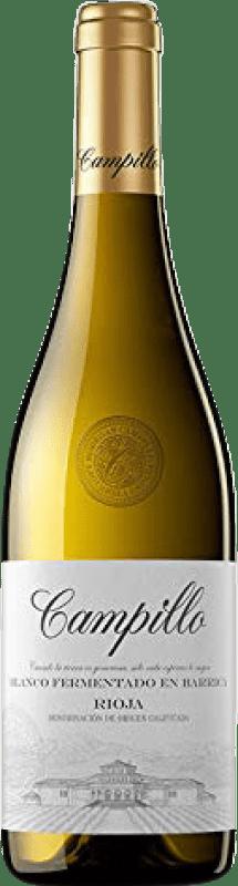 7,95 € Envío gratis | Vino blanco Campillo Fermentat Barrica Crianza D.O.Ca. Rioja La Rioja España Macabeo Botella 75 cl