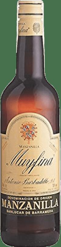 5,95 € 免费送货   强化酒 Barbadillo My Fina D.O. Manzanilla-Sanlúcar de Barrameda Andalucía y Extremadura 西班牙 Palomino Fino 瓶子 75 cl