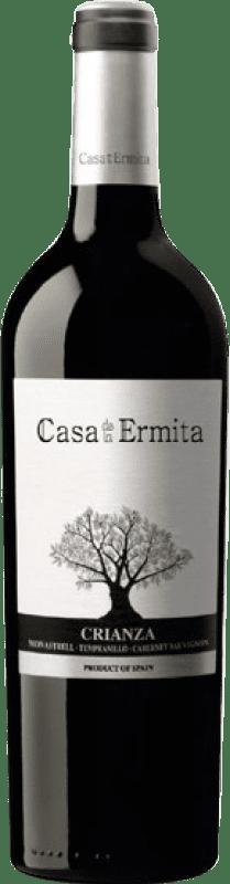 14,95 € Envío gratis | Vino tinto Casa de la Ermita Crianza D.O. Jumilla Levante España Tempranillo, Cabernet Sauvignon, Monastrell Botella Mágnum 1,5 L
