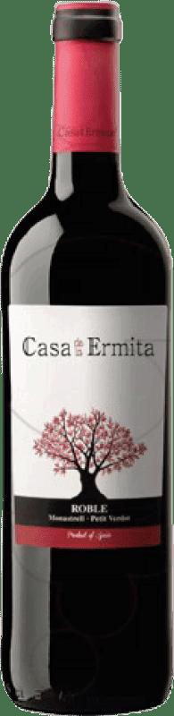 5,95 € Envío gratis | Vino tinto Casa de la Ermita Roble D.O. Jumilla Levante España Monastrell, Petit Verdot Botella 75 cl