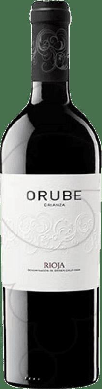 14,95 € Envoi gratuit | Vin rouge Solar Viejo Orube Crianza D.O.Ca. Rioja La Rioja Espagne Tempranillo, Grenache, Graciano Bouteille Magnum 1,5 L