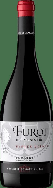 9,95 € Envío gratis | Vino tinto Oliveda Furot Crianza D.O. Empordà Cataluña España Mazuelo, Cariñena Botella 75 cl