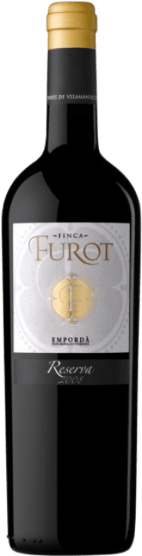 14,95 € 免费送货 | 红酒 Oliveda Furot Reserva D.O. Empordà 加泰罗尼亚 西班牙 Merlot, Grenache, Cabernet Sauvignon 瓶子 75 cl
