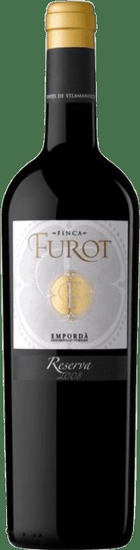 14,95 € Envío gratis | Vino tinto Oliveda Furot Reserva D.O. Empordà Cataluña España Merlot, Garnacha, Cabernet Sauvignon Botella 75 cl