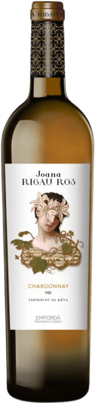 9,95 € Free Shipping | White wine Oliveda Joana Rigau Ros Fermentado Barrica Crianza D.O. Empordà Catalonia Spain Chardonnay Bottle 75 cl
