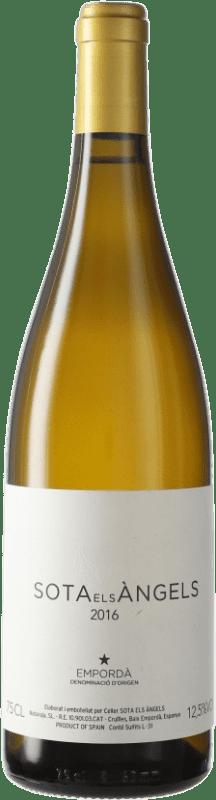 37,95 € Free Shipping | White wine Sota els Àngels Crianza D.O. Empordà Catalonia Spain Viognier, Picapoll Bottle 75 cl