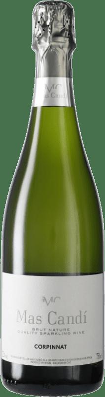 9,95 € 免费送货 | 白起泡酒 Mas Candí Brut Nature Joven D.O. Cava 加泰罗尼亚 西班牙 Macabeo, Xarel·lo, Parellada 瓶子 75 cl