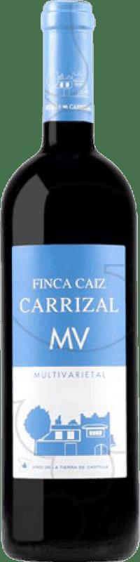 5,95 € Free Shipping | Red wine Dehesa del Carrizal Finca Caiz MV Crianza I.G.P. Vino de la Tierra de Castilla Castilla la Mancha y Madrid Spain Tempranillo, Merlot, Syrah, Cabernet Sauvignon, Petit Verdot Bottle 75 cl
