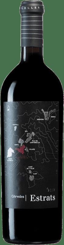 52,95 € Free Shipping   Red wine Cérvoles Estrats D.O. Costers del Segre Catalonia Spain Tempranillo, Merlot, Grenache, Cabernet Sauvignon Bottle 75 cl