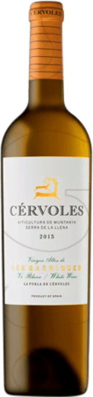 23,95 € Free Shipping | White wine Cérvoles Crianza D.O. Costers del Segre Catalonia Spain Macabeo, Chardonnay Bottle 75 cl