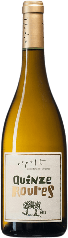 11,95 € | White wine Espelt Quinze Roures Crianza D.O. Empordà Catalonia Spain Grenache White, Grenache Grey Bottle 75 cl